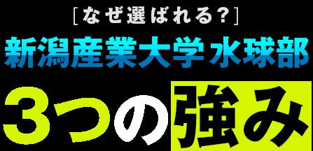 [なぜ選ばれる?]新潟産業大学 水球部 3つの強み